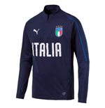 2018-2019 Italy Puma Quarter Zip Training Top (Peacot)