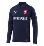 2018-2019 Czech Republic Puma 1/4 Zip Training Top (Peacot)