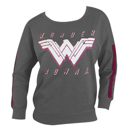 WONDER WOMAN Grey Jogger Top Sweatshirt
