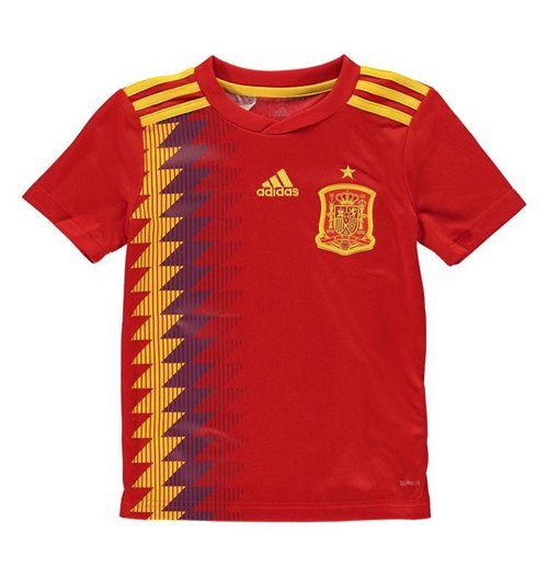 2018-2019 Spain Home Adidas Football Shirt (Kids)