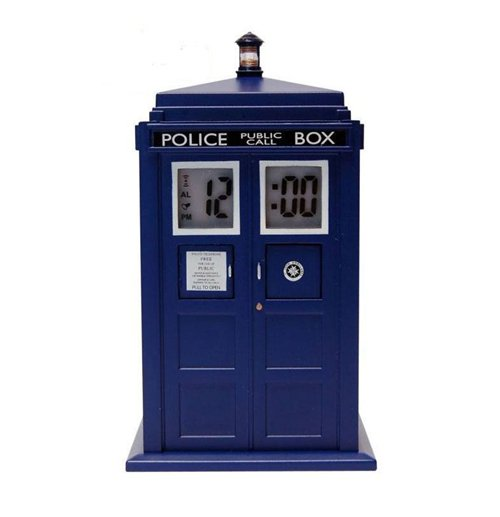 Doctor who alarm clock with projector tardis for only at merchandisingplaza uk - Tardis alarm clock ...