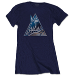 Def Leppard Ladies Tee: Triangle Logo