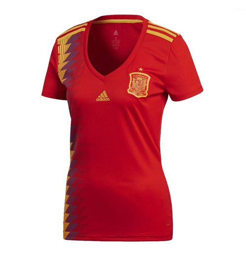 2018-2019 Spain Home Adidas Womens Shirt