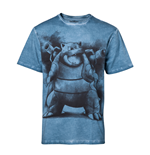 Pokémon - Blastoise Blue Oil Washed T-shirt