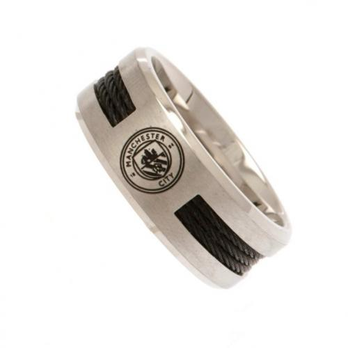 Manchester City F.C. Black Inlay Ring Medium