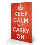 Keep Calm and Carry On Print on wood 283438