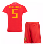 2018-19 Belgium Home Mini Kit (Vertonghen 5)