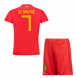 2018-19 Belgium Home Mini Kit (De Bruyne 7)