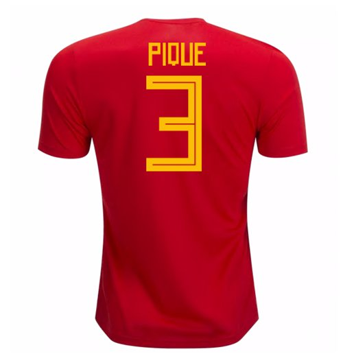 2018-19 Spain Home Shirt (Pique 3)