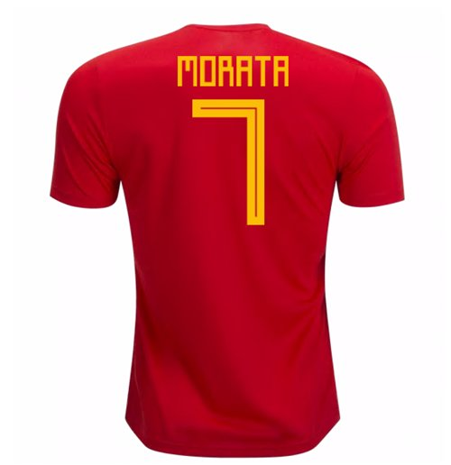 2018-19 Spain Home Shirt (Morata 7) - Kids
