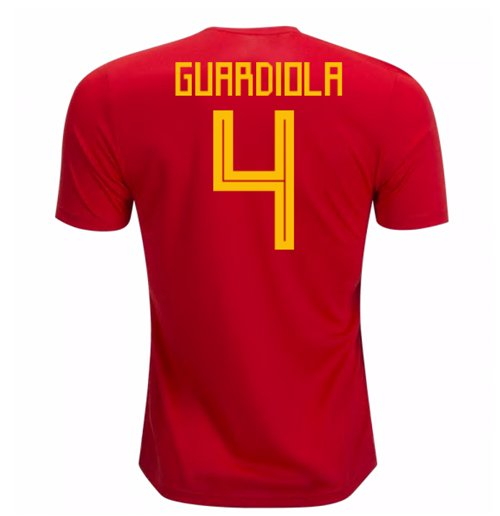 2018-19 Spain Home Shirt (Guardiola 4)