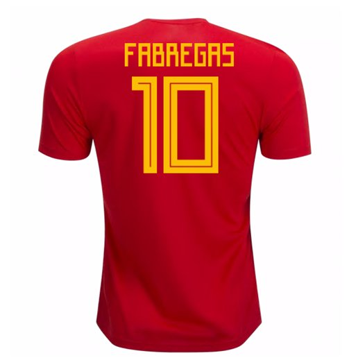 2018-19 Spain Home Shirt (Fabregas 10)