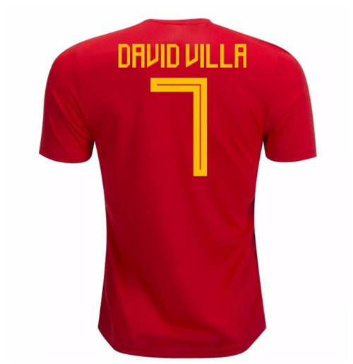 2018-19 Spain Home Shirt (David Villa 7) - Kids