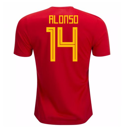 2018-19 Spain Home Shirt (Alonso 14) - Kids