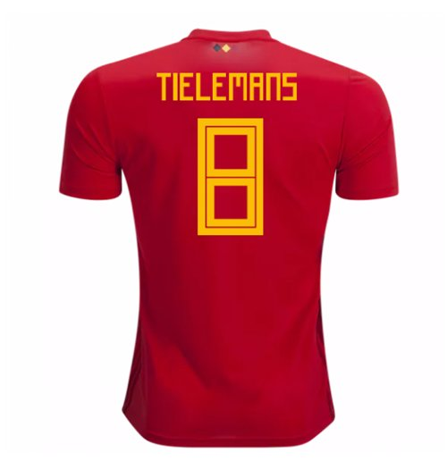 2018-2019 Belgium Adidas Home Shirt (Tielemans 8)