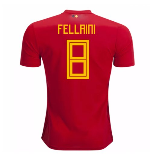 2018-2019 Belgium Adidas Home Shirt (Fellaini 8) - Kids