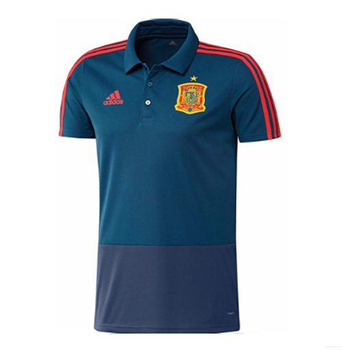 2018 2019 spain adidas training polo shirt blue for only