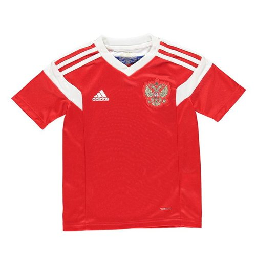 2018-2019 Russia Home Adidas Football Shirt (Kids) For