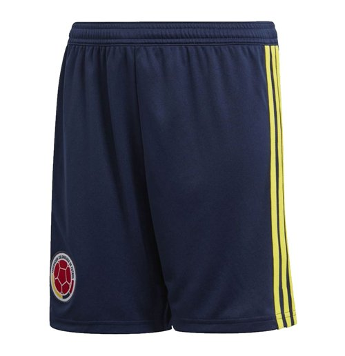 2018-2019 Colombia Home Adidas Football Shorts (Navy)
