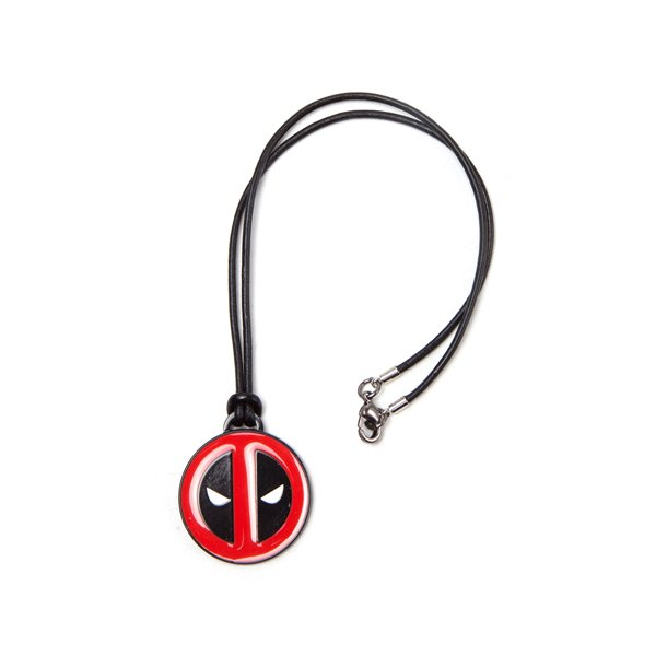Deadpool - Necklace With Leather Cord