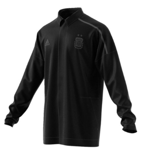 2018-2019 Argentina Adidas ZNE Woven Anthem Jacket (Black)