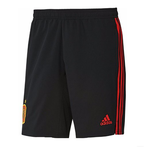 2018-2019 Spain Adidas Woven Shorts (Black)