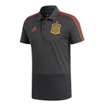 2018-2019 Spain Adidas Training Polo Shirt (Solid Grey)