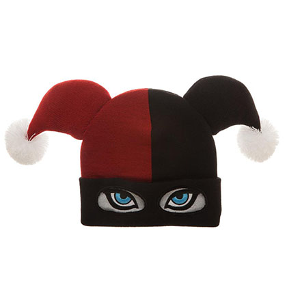 HARLEY QUINN Mask Winter Costume Hat