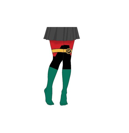 DC COMICS Batman Women's Classic Robin Suit Tights, Multi-colour