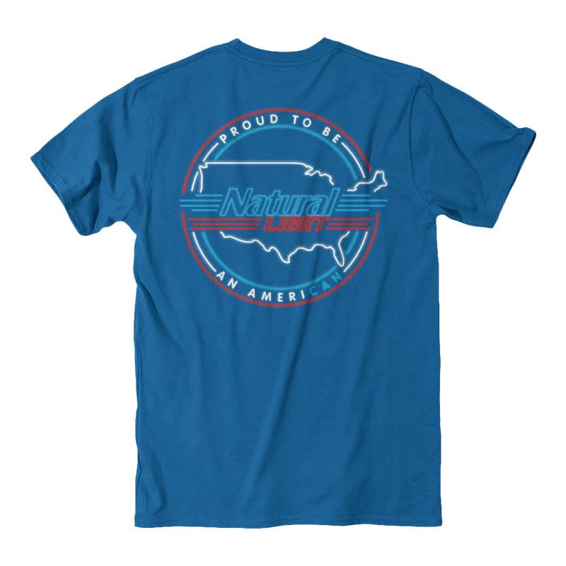 Buy Natty Light Rowdy Gentleman Proud American Blue Tee Shirt