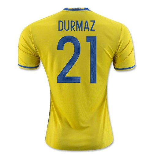 2016-2017 Sweden Home Adidas Shirt (Durmaz 21) - Kids