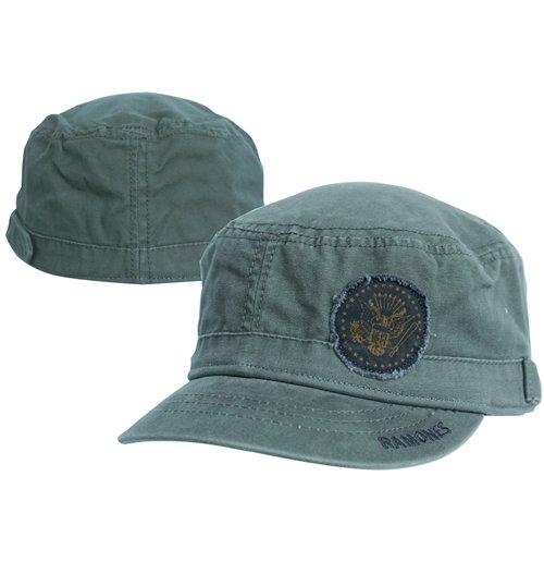 1ec7865b0dc Official Ramones Cap - Olive Adj Cadet Green  Buy Online on Offer