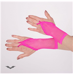 Hot pink net gloves. Loop for finger. Sh