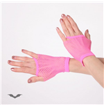 Net Gloves short pink