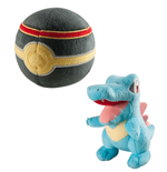 Pokemon Plush Figure Totodile with Luxury  Poke Ball 15 cm
