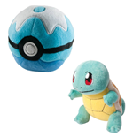Pokemon Plush Figure Squirtle with Poke Ball 15 cm