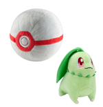 Pokemon Plush Figure Chikorita with Premier Poke Ball 15 cm