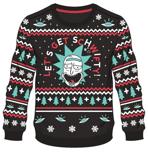 Rick And Morty Christmas Sweater.Rick Morty Christmas Sweater Get Schwifty