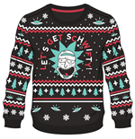 Rick & Morty Christmas Sweater Get Schwifty