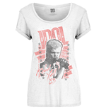 Billy Idol Ladies Tee: Rebel Yell
