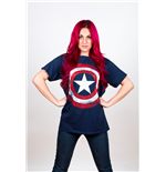 Marvel Comics Men's Tee: Captain America Distressed Shield