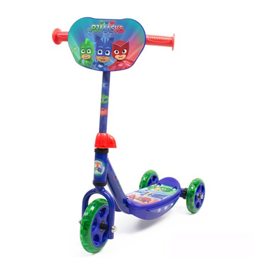 PJMASKS Kid's Three Wheel Tri Scooter with Adjustable Handlebar and Front Plate
