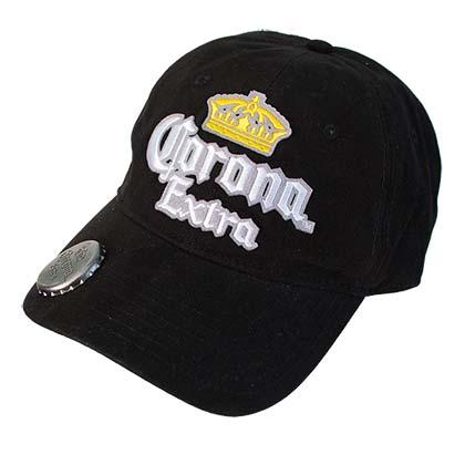 CORONA EXTRA Adjustable Black Bottle Opener Hat 142cf70c1dd6