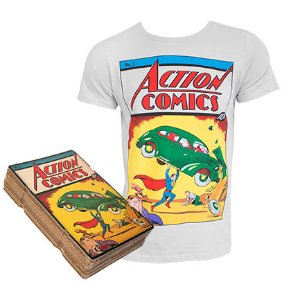 SUPERMAN Action Comics #1 Boxed White Tee Shirt