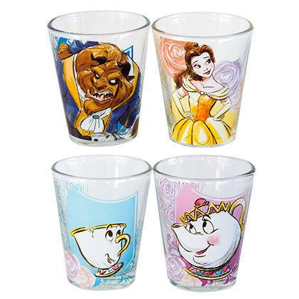 Beauty And The Beast Four Pack Shot Glass Set