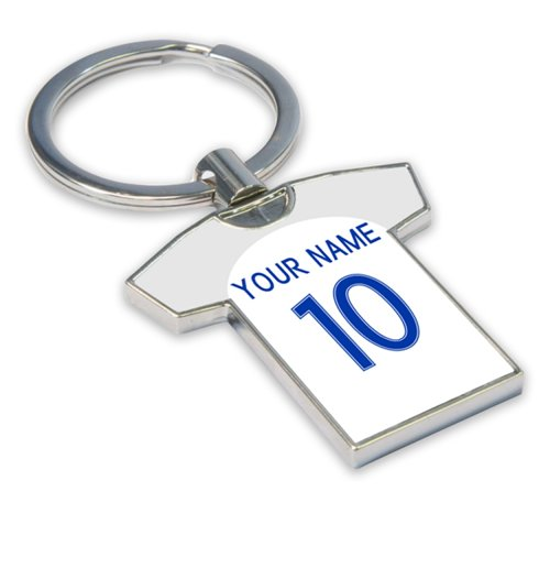 Personalised England Football Shirt Key Ring