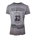 JACK DANIEL'S Men's Charcoal Mellowed 'Drop by Drop' T-Shirt, Extra Large, Grey