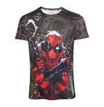 MARVEL COMICS Deadpool Men's Dollar Bills T-Shirt, Large, Multi-colour
