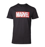 MARVEL COMICS Men's Marvel Logo T-Shirt, Large, Black