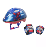 MARVEL COMICS Ultimate Spider-man Kid's Activities Helmet, Knee Pads and Elbow Pads Protection Set, Multi-colour